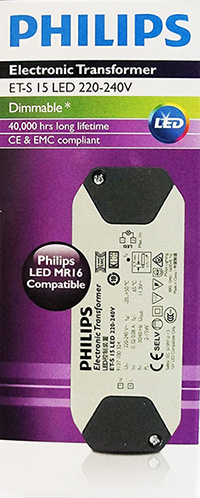 markpro lighting philips led driver et s 15w 220 240v dimmabletransformers et s 15 led 220 240v philips primaline is a high frequency electronic halogen transformer suitable for low voltage 12 v halogen lamps